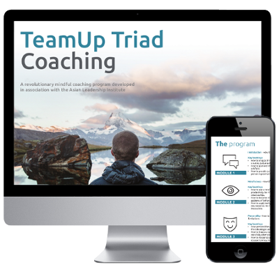 TeamUp Triad Coaching Program on iMac